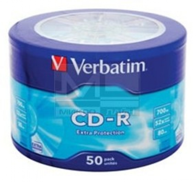 "Диски CD-R 700Mb 52x ""VERBATIM"" 50шт."