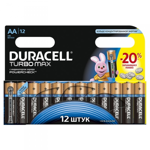 "Батарейки LR 6-12  Ultra Power ""DURACELL"" 12шт."