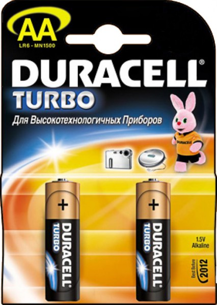 "Батарейки LR 6-2 TURBO ""DURACELL"" 2шт."