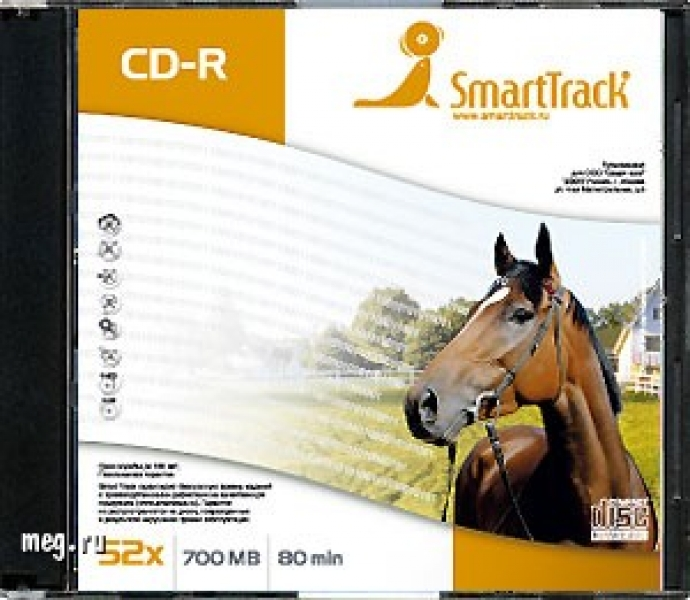 "Диски CD-R 700Mb 52x, ""SMART TRACK"" Slim"
