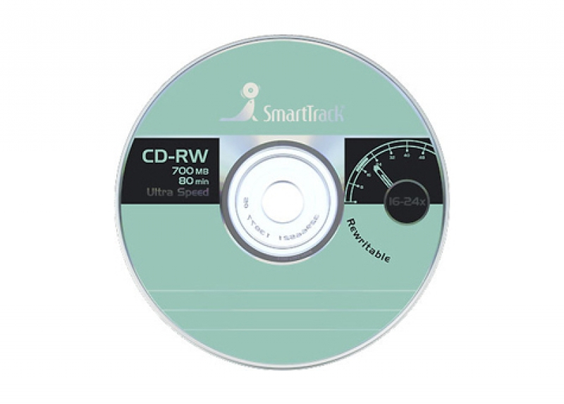 "Диски CD-RW 700Mb 4-12x ""SMART Track"" Slim"